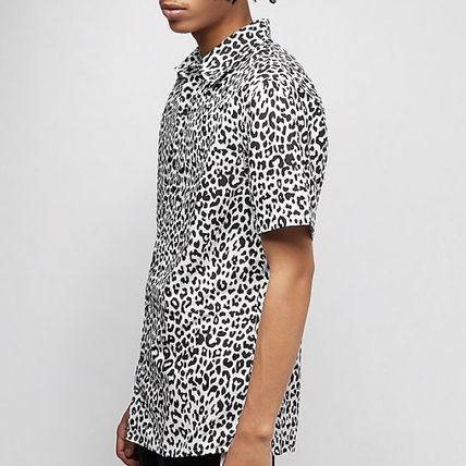 Leopard Patterns Short Sleeves Shirts