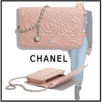 CHANEL 2019-20AW CHAIN WALLET pink more wallets & cases