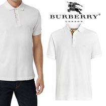 Burberry Pullovers Cotton Short Sleeves Polos