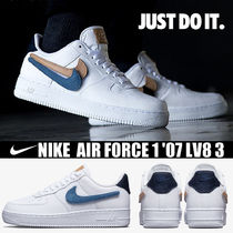 Nike AIR FORCE 1 Blended Fabrics Street Style Plain Leather Sneakers