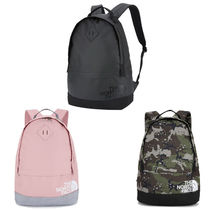 THE NORTH FACE WHITE LABEL Camouflage Unisex Street Style A4 Backpacks