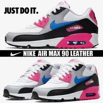 Nike AIR MAX 90 Platform Round Toe Casual Style Blended Fabrics Street Style