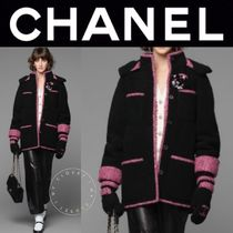CHANEL ICON Casual Style Blended Fabrics Street Style Bi-color Medium