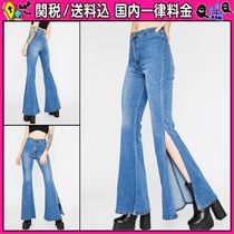 DOLLS KILL Denim Plain Long Jeans