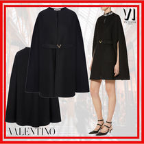 VALENTINO Wool Long Ponchos & Capes