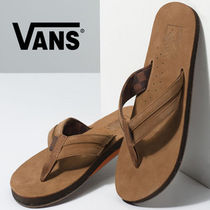 VANS Unisex Faux Fur Blended Fabrics Shower Shoes Shower Sandals