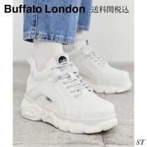 Buffalo LONDON Platform Lace-up Casual Style Unisex Faux Fur Street Style