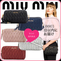MiuMiu MATELASSE Casual Style Leather Party Style Elegant Style Shoulder Bags
