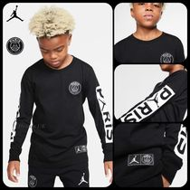 Nike AIR JORDAN Unisex Street Style Collaboration Kids Girl Tops