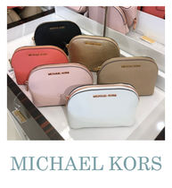 Michael Kors Plain Leather Pouches & Cosmetic Bags