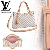 Louis Vuitton DAMIER AZUR Casual Style 2WAY Leather Totes