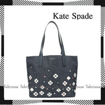 kate spade new york Flower Patterns Canvas A4 Totes