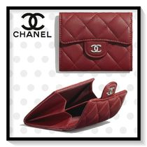 CHANEL MATELASSE Unisex Lambskin Blended Fabrics Plain Special Edition