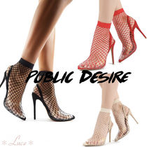 PUBLIC DESIRE Pin Heels PVC Clothing Elegant Style Hooties Heeled Sandals
