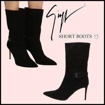 GIUSEPPE ZANOTTI Suede Pin Heels Ankle & Booties Boots