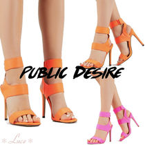 PUBLIC DESIRE Open Toe Pin Heels Elegant Style Heeled Sandals