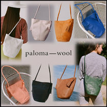 Paloma Wool Casual Style Tassel Leather Shoulder Bags