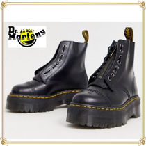 Dr Martens SINCLAIR Plain Toe Lace-up Casual Style Plain Leather Mid Heel Boots