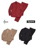 Supreme Unisex Street Style Top-bottom sets