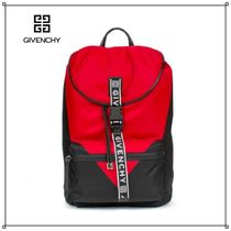 GIVENCHY Casual Style Bi-color Backpacks