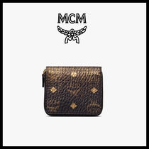 MCM Unisex Street Style Folding Wallets