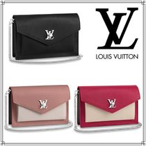 Louis Vuitton LOCKME Calfskin Chain Plain Shoulder Bags