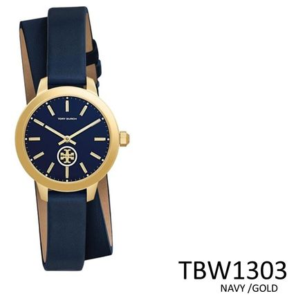 Tory Burch Leather Quartz Watches Office Style Analog Watches