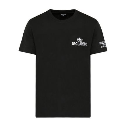 D SQUARED2 Unisex Cotton Short Sleeves Logo Luxury T-Shirts
