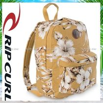 RIP CURL Flower Patterns Casual Style A4 Backpacks