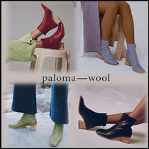 Paloma Wool Leather Block Heels Ankle & Booties Boots