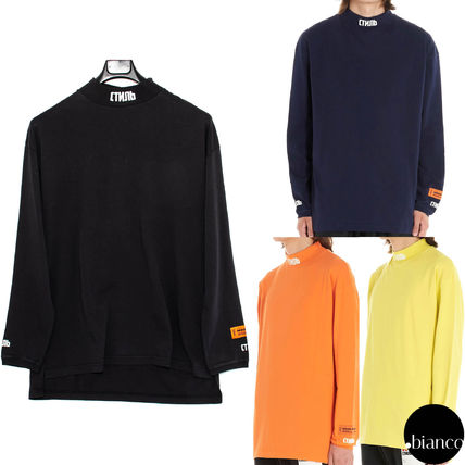 Unisex Street Style Long Sleeves Cotton Logos on the Sleeves