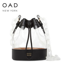 OAD NEW YORK 3WAY Plain Leather Crystal Clear Bags Shoulder Bags