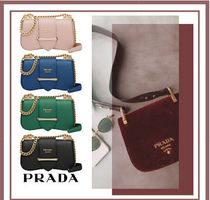 PRADA Casual Style Blended Fabrics Vanity Bags Leather