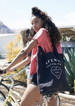 AFENDS Heart Casual Style Unisex A4 Plain Oversized Totes