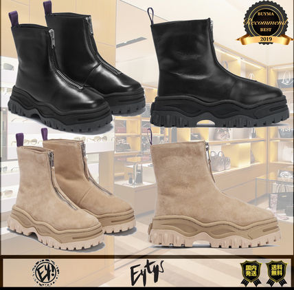 Unisex Street Style Plain Dad Sneakers Logo Boots Boots