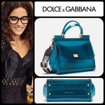 Dolce & Gabbana Blended Fabrics 2WAY Plain Crystal Clear Bags PVC Clothing