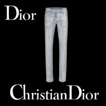 Christian Dior Plain Cotton Jeans & Denim