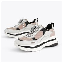 Uterque Leather Trim Combined Sneakers