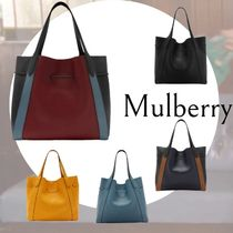 Mulberry Plain Leather Totes
