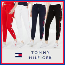 Tommy Hilfiger Star Casual Style Street Style Plain Cotton Long