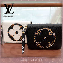 Louis Vuitton ZIPPY COIN PURSE Zebra Patterns Leopard Patterns Unisex Canvas