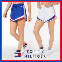 Tommy Hilfiger Short Casual Style Unisex Street Style Cotton
