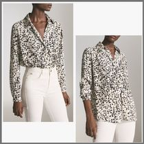 Massimo Dutti Leopard Patterns Casual Style Long Sleeves Medium