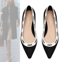 Christian Dior Casual Style Plain Pointed Toe Pumps & Mules