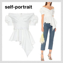 SELF PORTRAIT Plain Puff Sleeves Shirts & Blouses