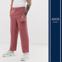 ASOS Printed Pants Stripes Blended Fabrics Street Style Cotton