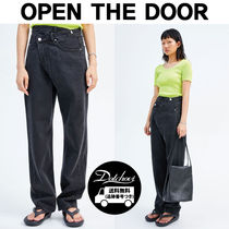 OPEN THE DOOR Denim Street Style Long Jeans