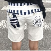Casual Style Cotton Medium Denim & Cotton Shorts