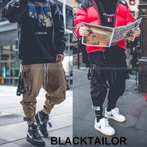 BLACKTAILOR Street Style Plain Cotton Khaki Cargo Pants