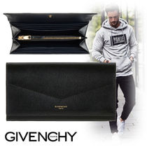 GIVENCHY Unisex Street Style Plain Leather Long Wallets